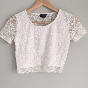 Topshop Cropped Lace Size 6